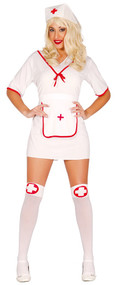 Ladies Nurse Nina Fancy Dress Costume