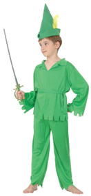Boys Peter Pan Fancy Dress Costume 3
