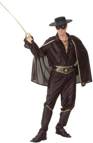 Mens Deluxe Bandit Fancy Dress Costume