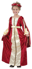 Girls Medieval Princess Fancy Dress Costume 2