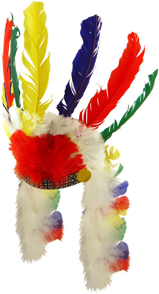 Feather Headdress Squaw//Chief Indian Headdress Childs Fancy Dress