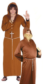 Mens Friar Monk Fancy Dress Costume