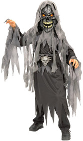 Boys Evil Skull Zombie Fancy Dress Costume