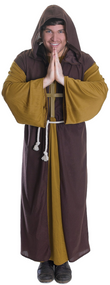 Mens Friar Tuck Fancy Dress Costume