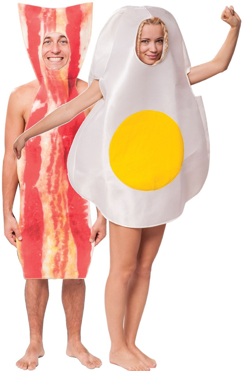 Couples Bacon And Egg Fancy Dress Costumes Fancy Me Limited
