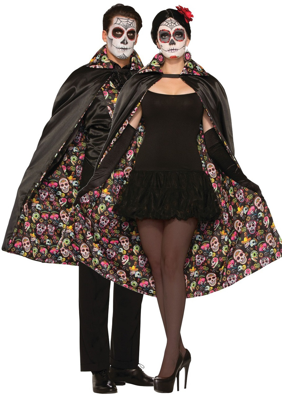 1351c6a92ef Adult Day of the Dead Fancy Dress Cape