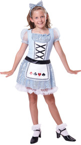 Girls Sequin Alice Fancy Dress Costume