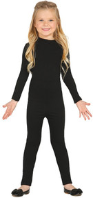 Child's Black Bodysuit Fancy Dress Costume