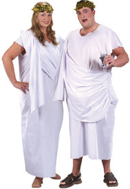 Adult Plus Size Roman Toga Fancy Dress Costume