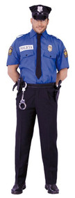 Mens Police Officer Fancy Dress Costume