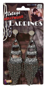 Ladies 1920s Vintage Rhinestone Earrings