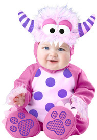Baby Pink Monster Fancy Dress Costume