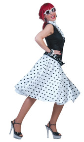Ladies 1950's White Skirt Fancy Dress Costume