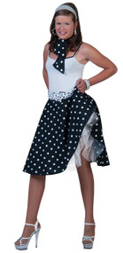 Ladies 1950s Black Skirt Fancy Dress Costume