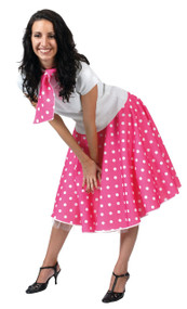 Ladies 1950s Pink Skirt Fancy Dress Costume
