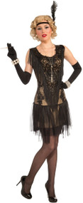 Ladies Luxurious Flapper Fancy Dress Costume