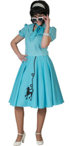 Ladies Blue Poodle 1950s Fancy Dress Costume