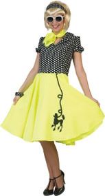Ladies Yellow Poodle 1950s Fancy Dress Costume