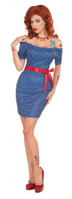 Ladies 1950s Glamour Girl Fancy Dress Costume