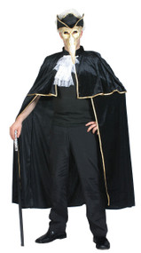 Adult  Venetian Cape Fancy Dress Costume