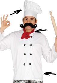 Mens Chef Fancy Dress Costume Kit