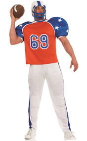 Mens American Footballer Fancy Dress Costume