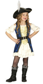 Girls Deluxe Pirate Fancy Dress Costume
