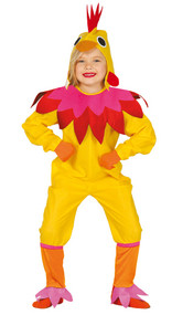 Girls Yellow Chicken Fancy Dress Costume