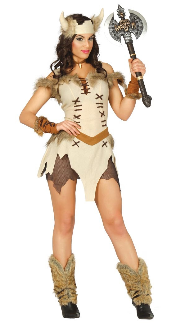 Ladies Sultry Viking Fancy Dress Costume - Fancy Me Limited 4c9fd8aec