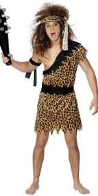 Mens Prehistoric Caveman Fancy Dress Costume
