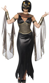 Ladies Bastet Fancy Dress Costume
