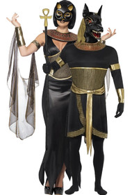 Couples Egyptian God & Goddess Fancy Dress Costumes