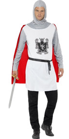 Mens White Knight Fancy Dress Costume
