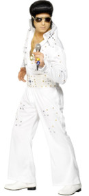 Mens Jewelled Elvis Fancy Dress Costume