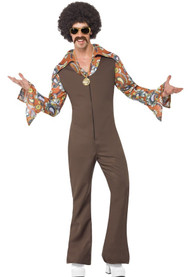 Mens 1970s Dance Fever Fancy Dress Costume