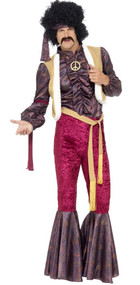 Mens 1970s Rock Star Fancy Dress Costume