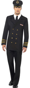 Mens Naval Officer Fancy Dress Costume