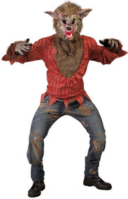 Mens Scary Werewolf Fancy Dress Costume