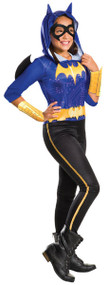 Girls Batgirl Jumpsuit Fancy Dress Costume