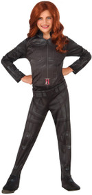 Girls Black Widow Fancy Dress Costume