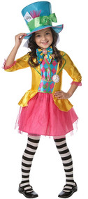 Girls Mad Hatter Fancy Dress Costume