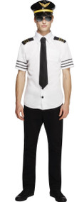 Mens Mile High Pilot Fancy Dress Costume