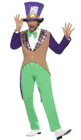 Mens Mad Hatter Fancy Dress Costume