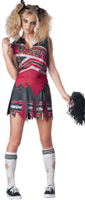 Ladies Dead Cheerleader Fancy Dress Costume