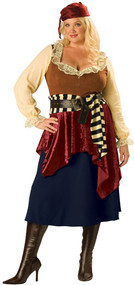 Ladies Buccaneer Beauty Fancy Dress Costume