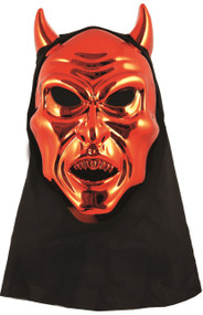 Adult Red Devil Mask with Hood