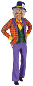 Mens Mad Hatter Fancy Dress Costume 2