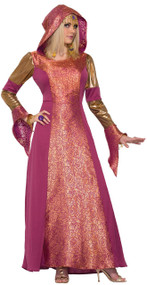Ladies Medieval Arabian Queen Fancy Dress Costume