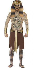 Mens Zombie Pharaoh Fancy Dress Costume
