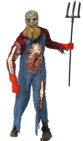 Mens Zombie Hillbilly Farmer Fancy Dress Costume